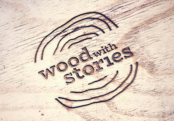 Web design services: Logo design Wood with stories
